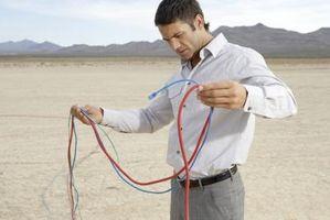 Comment obtenir d'un câble électrique à travers un Allée
