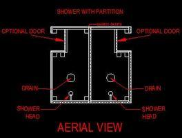 Comment construire une douche extérieure avec une partition