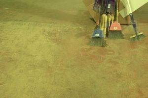 Préparation de la surface du béton des chasseurs de phoques