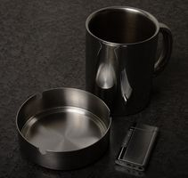 Scorched Dangers acier inoxydable Pot