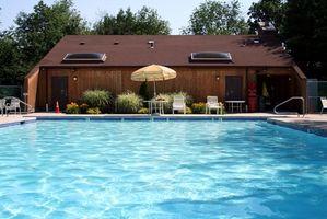 La vidange de l'eau d'un pool