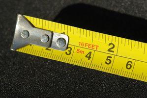 Comment lire un ruban à mesurer en pouces