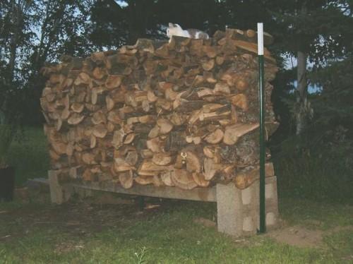 Comment construire un rack de bois de chauffage